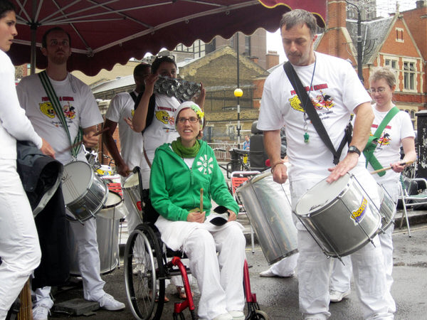 2012 Waterloo Carnival with drummers from the London School of Samba