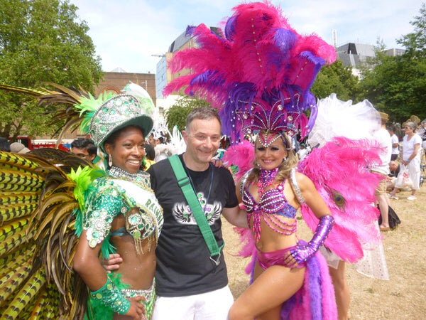 2015 Waterloo Carnival with London School of Samba Dancers Maura Samba and Kanika Findley-Chin